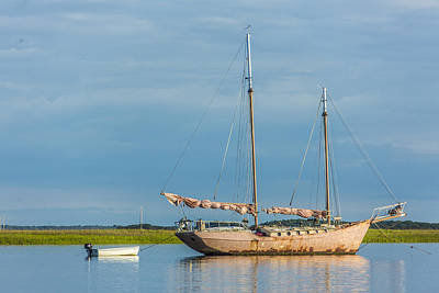 Photograph - Pink Sailboat by Paula Porterfield-Izzo