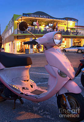 Photograph - Pink Scooter And The Brass Monkey, Pass-a-grille, Florida  -61596 by John Bald