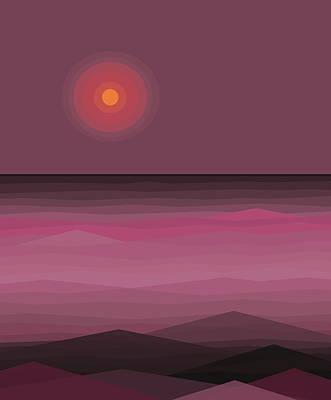 Digital Art - Pink Sea by Val Arie