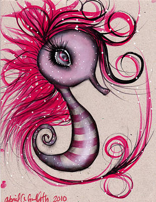 Painting - Pink Seahorse by  Abril Andrade Griffith