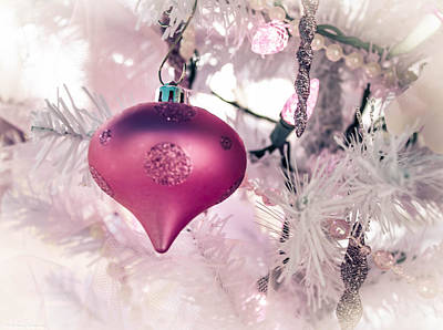 Photograph - Pink Shimmery Christmas 2 by Debra Forand