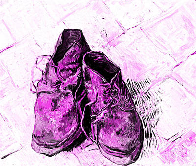 Pink Shoes Art Print by John Stephens