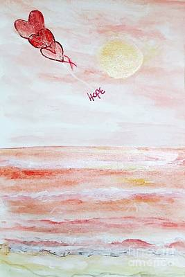 Painting - Pink Sign Of Hope by Anne Sands