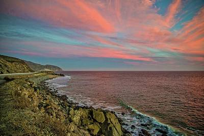 Photograph - Pink Skies Along Pacific Coast Highway by Lynn Bauer