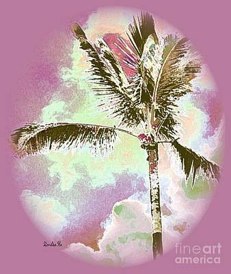 Palm Digital Art - Pink Skies by Dorlea Ho