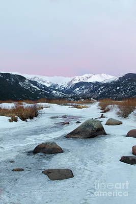 Photograph - Pink Skies Over Moraine Park In Rocky Mountain National Park, Es by Ronda Kimbrow
