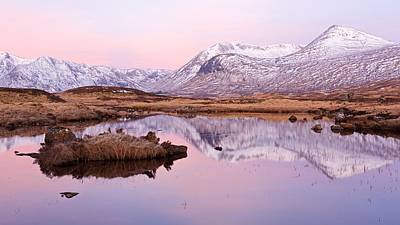 Photograph - Pink Skies Over The Black Mount Range by Stephen Taylor