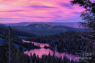 Photograph - Pink Skies Twin Lakes by Anthony Bonafede
