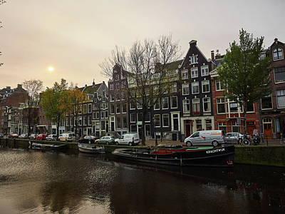 Photograph - Pink Sky. Amsterdam by Jouko Lehto