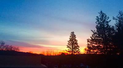 Photograph - Pink Sky At Dawn Catskills by Ellen Levinson