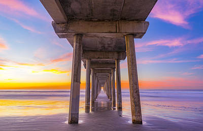 California Ocean Photograph - Pink Sky At Night, Photographers Delight by Peter Irwindale