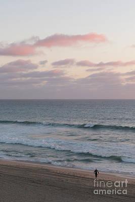 Photograph - Pink Sky Lone Surfer by Ana V Ramirez