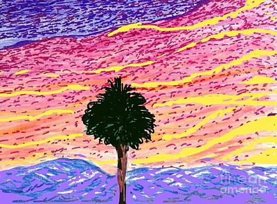 Socal Mixed Media - Pink Sky October  by Ishy Christine