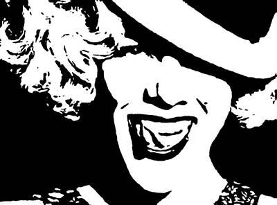 Pink Digital Art - Pink Smiling by Katrina Britt