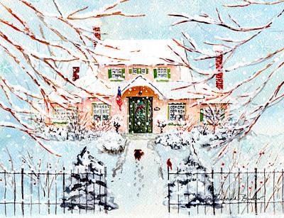 Pink Snow House Original