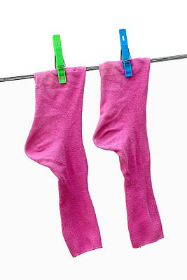 Pink Socks Art Print by Frank Tschakert