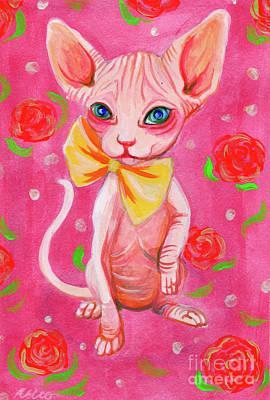 Painting - Pink Sphynx by Akiko Okabe