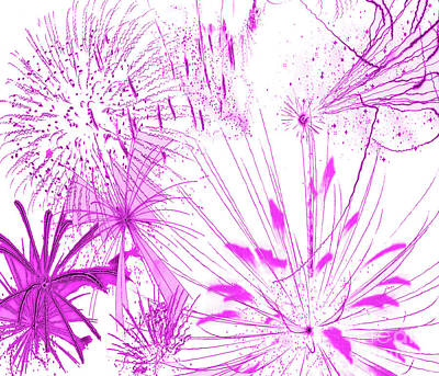 Art Print featuring the digital art Pink Splash Watercolor by Methune Hively