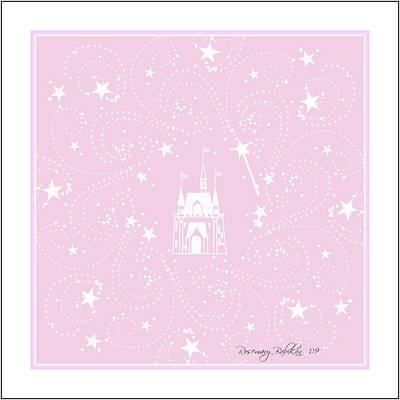 Castle Digital Art - Pink Star Castle by Rosemary Babikan