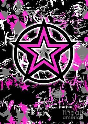 Pink Star Graphic Art Print by Roseanne Jones