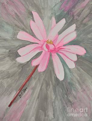 Painting - Pink Star Magnolia by Maria Urso