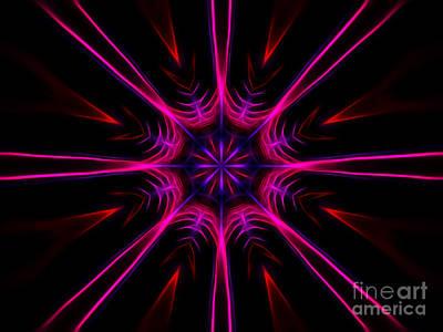 Pink Starburst Fractal  Art Print