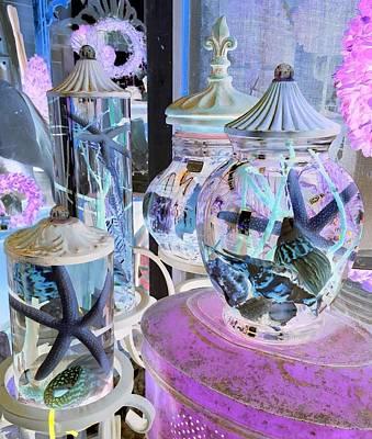 Photograph - Pink Starfish Jars by Dorothy Visker