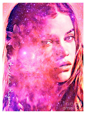 Stargazing Digital Art - Pink Stargazing by Andrea Rigoni