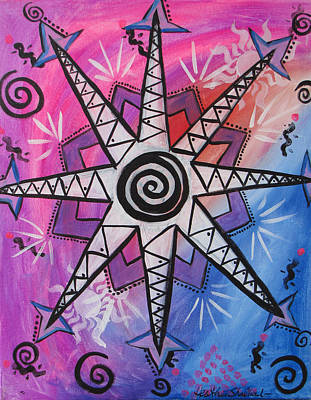 Painting - Pink Sun Yantra by Heather Shalhoub