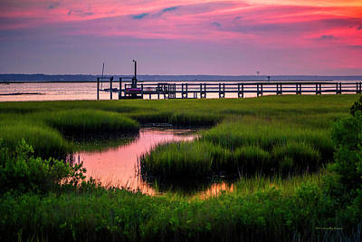 Photograph - Pink Sunrise At Bogue Sound by Timothy Harris