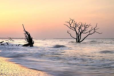 Photograph - Pink Sunrise  Edisto Island Botany Bay Beach by Carol Montoya