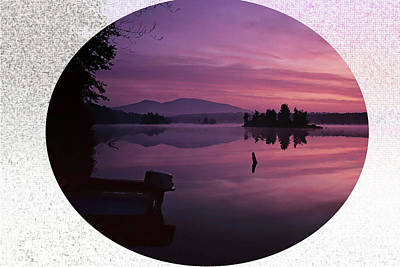 Photograph - Pink Sunrise Over Large Lake. by Rusty R Smith