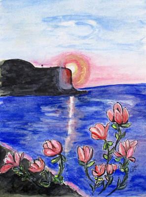 Painting - Pink Sunset by Clyde J Kell