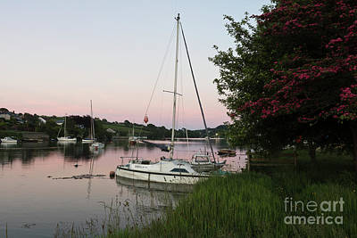 Photograph - Pink Sunset Mylor Bridge by Terri Waters