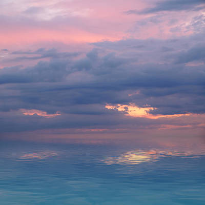 Photograph - Pink Sunset Reflections by Gill Billington