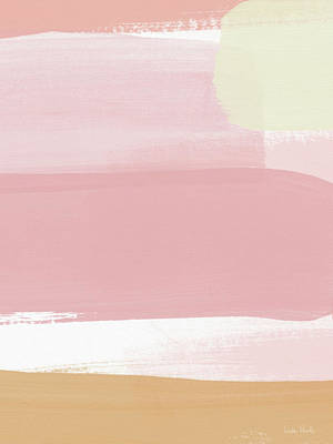 Mixed Media - Pink Sunset Stripe 1- Art By Linda Woods by Linda Woods