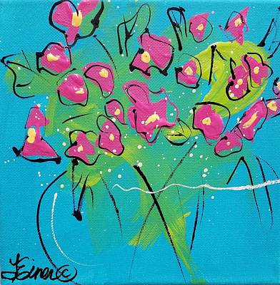 Painting - Pink Sweetpeas by Terri Einer