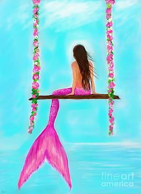 Painting - Pink Swing Beauty by Leslie Allen