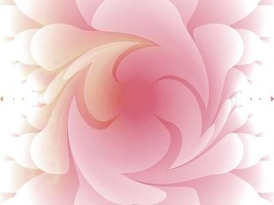 Digital Art - Pink Swirls by Nancy Pauling