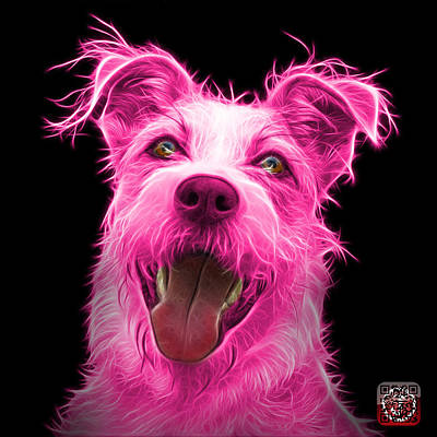 Painting - Pink Terrier Mix 2989 - Bb by James Ahn