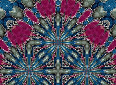 Mixed Media - Pink Thistle by Natalie Holland
