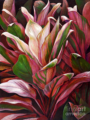 Multi Colored Painting - Pink Ti by Sandra Blazel - Printscapes