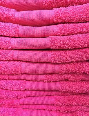Pink Towels Art Print
