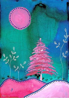 Painting - Pink Tree by Alexandra Schumann