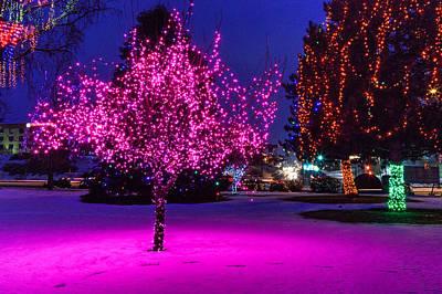Pink Tree Art Print by Brad Stinson