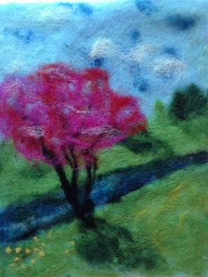Pink Tree Print by Nicole Listerfelt