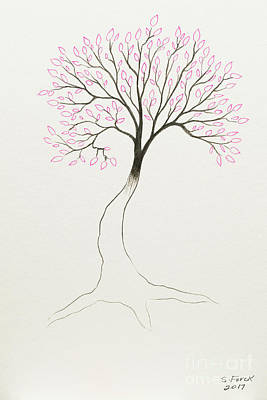 Painting - Pink Tree by Stefanie Forck