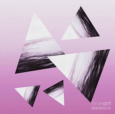 Mixed Media - Pink Triangle Abstract by Rachel Hannah