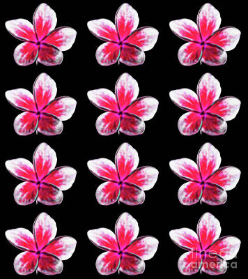 Digital Art - Pink Tropical Summer Flowers by Tracey Everington