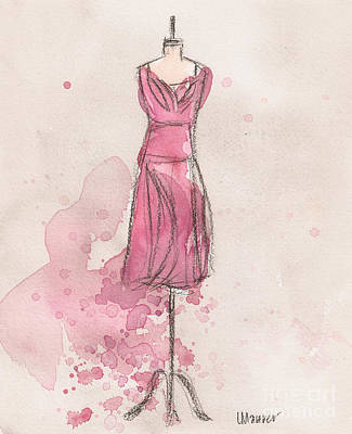 Loose Painting - Pink Tulip Dress by Lauren Maurer